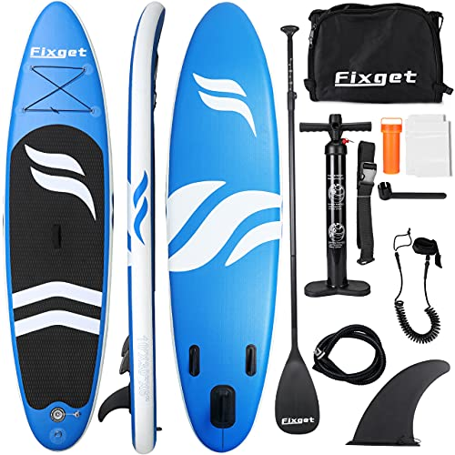 Fixget SUP Board, Stand Up Paddle Board Aufblasbar Stand-Up Paddling...