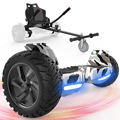 FUNDOT Hoverboards mit Sitz, All-Terrain-Hoverboards mit Hoverkart,8,5...