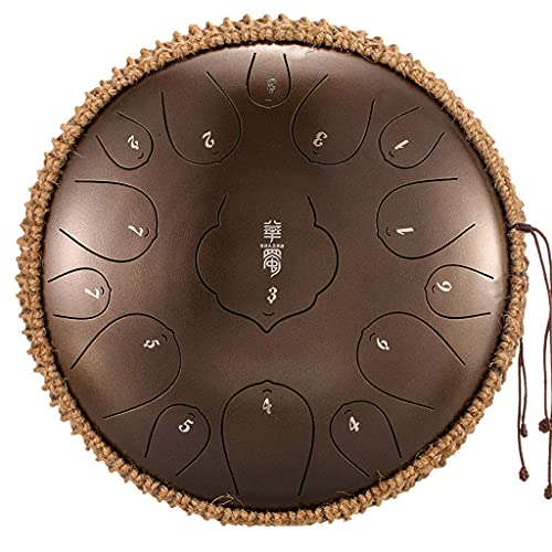 YUEXIN Stahlzungentrommel Steel Tongue Drum,Tongue Drum, 12.5 Zoll 15...